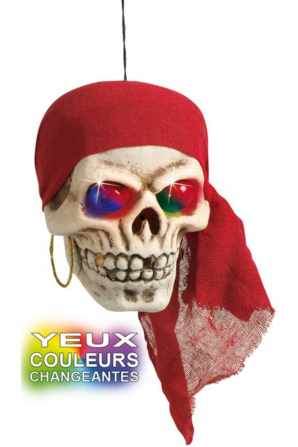 Cr ne pirate yeux lumineux d corations halloween le for Decoration yeux