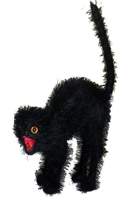 chat noir agressif d corations halloween le. Black Bedroom Furniture Sets. Home Design Ideas