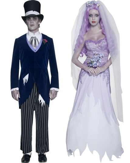 Couple mari gothique deguisement adulte en couple le - Deguisement halloween couple ...