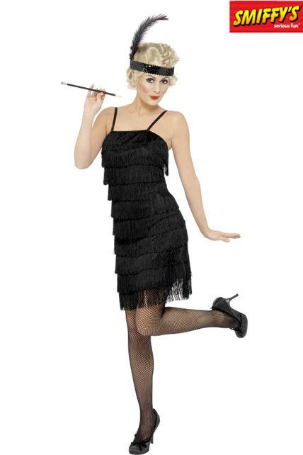 robe charleston frange d guisement adulte le. Black Bedroom Furniture Sets. Home Design Ideas