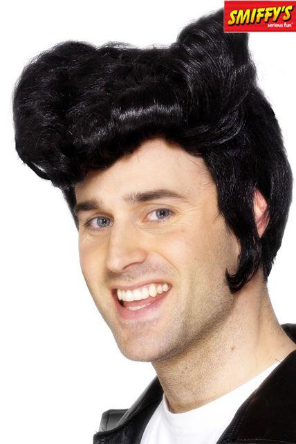 Perruque Grease Noir - Perruques Hommes Le