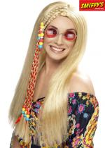 Deguisement Perruque Blonde Hippie