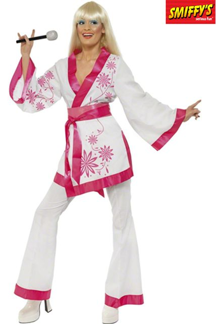 kimono style ann e 70 deguisement adulte disco fever femme le. Black Bedroom Furniture Sets. Home Design Ideas