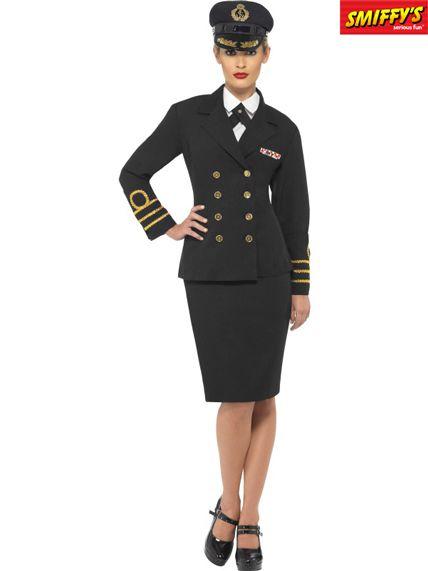Veste d'officier bleu marine femme