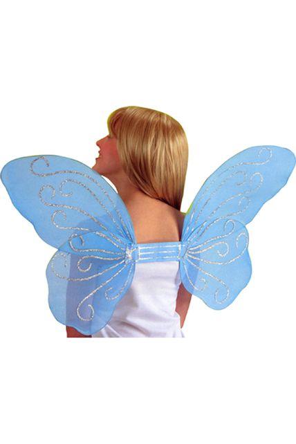 ailes de papillon paillettes 50 cm bleues le. Black Bedroom Furniture Sets. Home Design Ideas