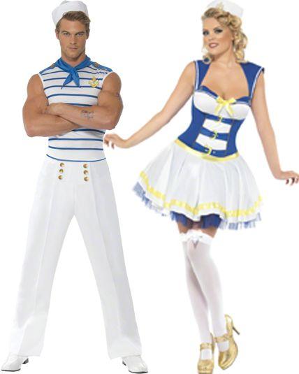 Couple us marin r tro deguisement adulte en couple le - Theme de deguisement ...