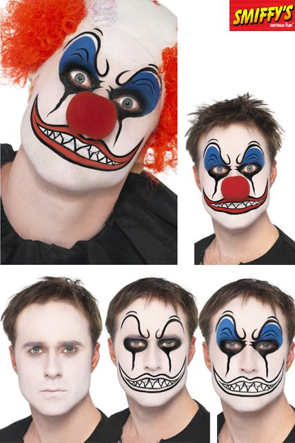 Set maquillage clown mechant maquillage halloween le - Maquillage de clown facile ...