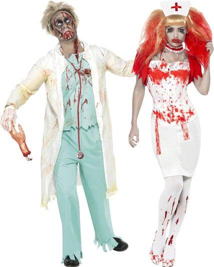 deguisement couple pour halloween docteur medecin zombie le. Black Bedroom Furniture Sets. Home Design Ideas
