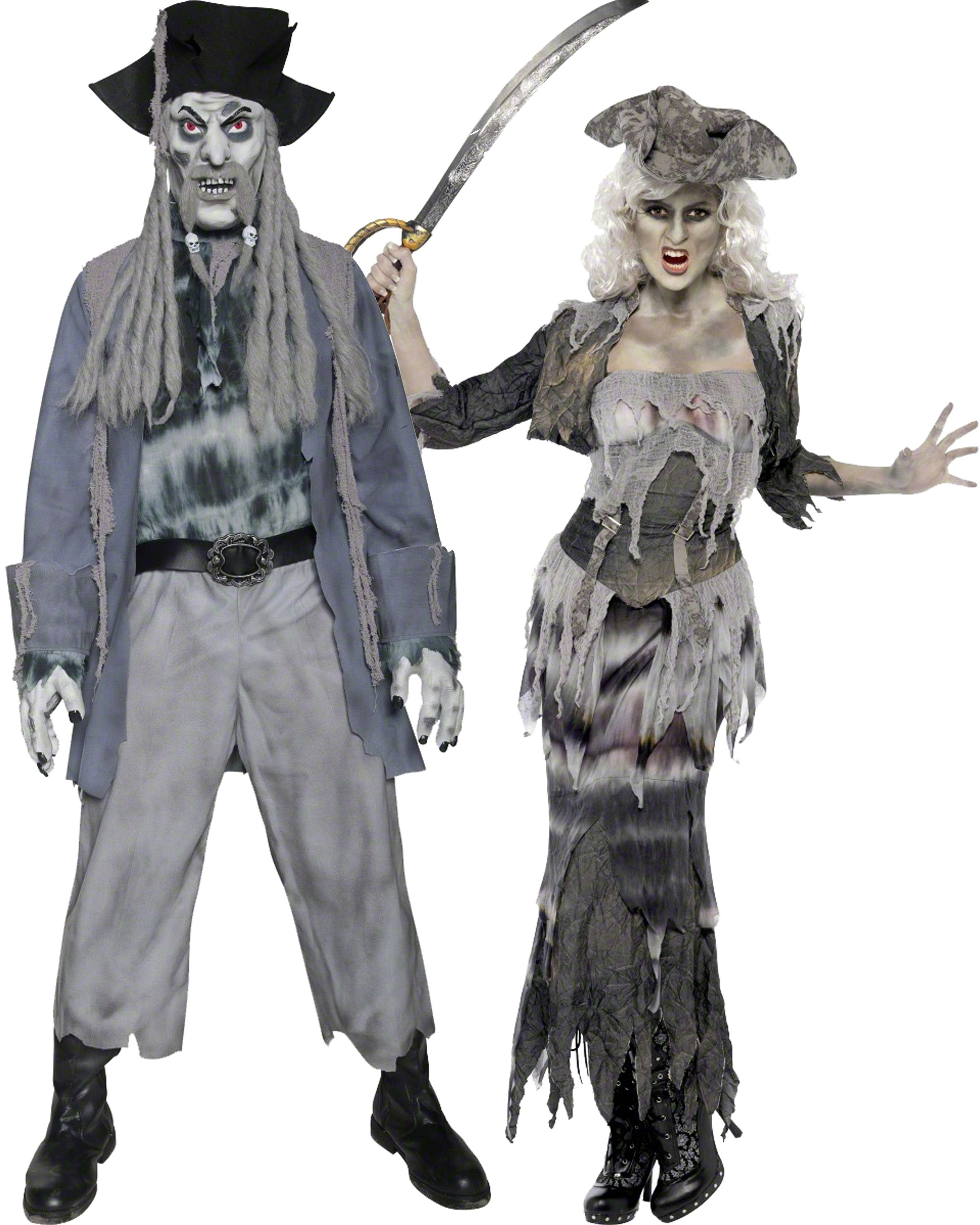 Deguisement en couple de zombie et de pirate le - Deguisement couple halloween ...