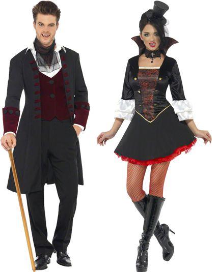 couple vampire gothique pour halloween le. Black Bedroom Furniture Sets. Home Design Ideas
