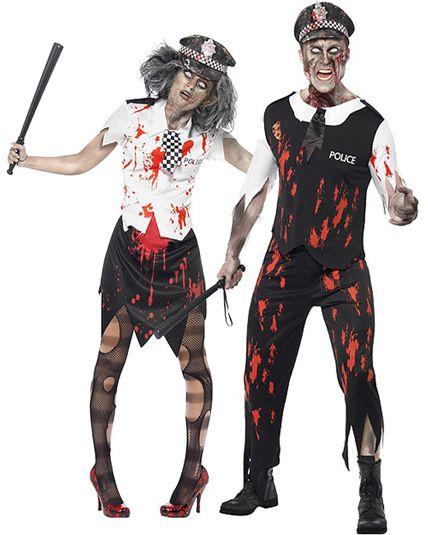 couple zombie police deguisement adulte en couple le. Black Bedroom Furniture Sets. Home Design Ideas