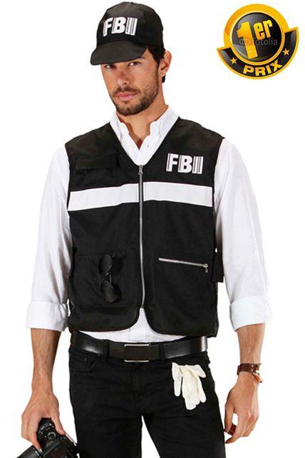 deguisement enqueteur fbi policier gendarme flic 1er prix le. Black Bedroom Furniture Sets. Home Design Ideas