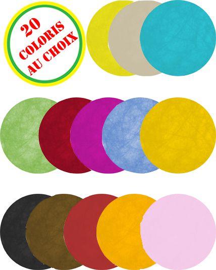 Sachet de 10 sets de table non tiss ronds le - Set de table multicolore ...