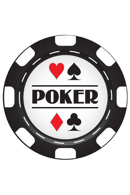 Decor carton jeton de poker 30 cm imp 2 faces le for Decoration poker