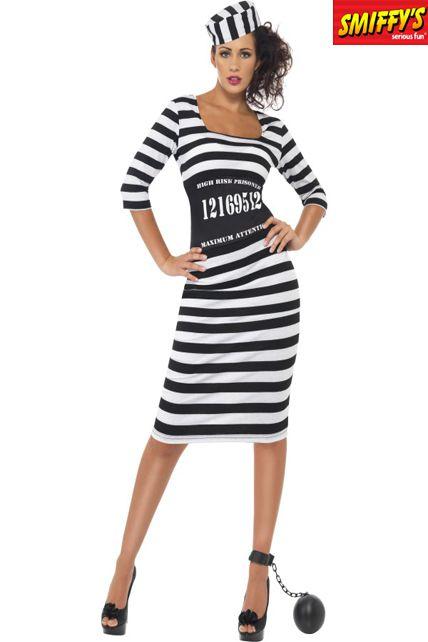 Deguisement Chic De Forçat - Deguisement Adulte Flic Ou Voyou Femme ... c02a5db5807