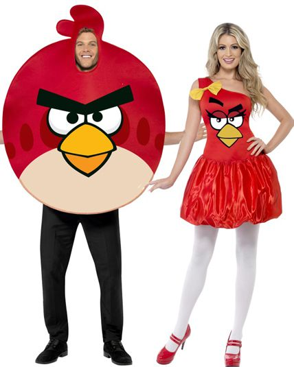 couple angry birds deguisement adulte en couple le. Black Bedroom Furniture Sets. Home Design Ideas