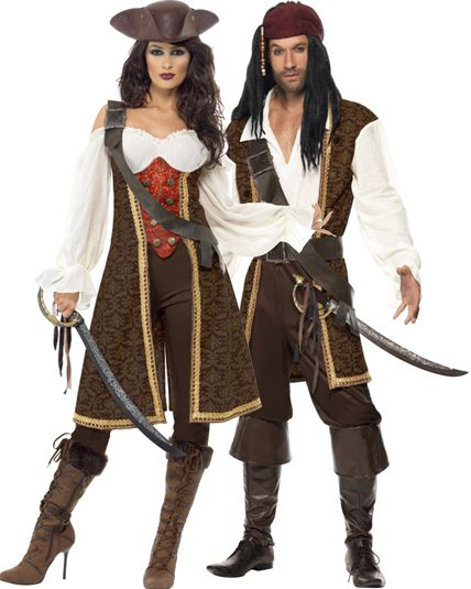 Couple pirate haute mers deguisement adulte en couple le - Deguisement halloween couple ...