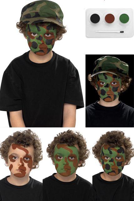 Maquillage militaire - Maquillage deguisement visage ...