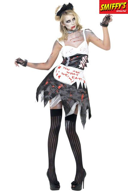 Femme m nage zombie deguisement adulte sp cial halloween le - Deguisement halloween adulte ...