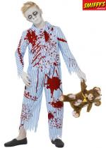 Deguisement Zombie Gar�on En Pyjama Halloween Enfants