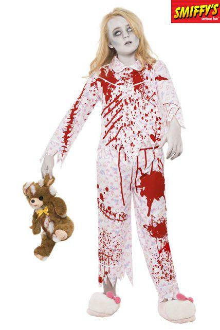 Zombie fille en pyjamas d guisement enfant le - Deguisement petite fille ...