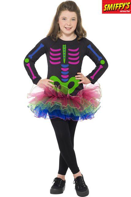 deguisement squelette fluo deguisement enfant halloween enfants le. Black Bedroom Furniture Sets. Home Design Ideas