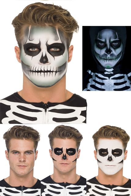 Kit maquillage squelette phosphorescent maquillage halloween le - Maquillage halloween facile homme ...