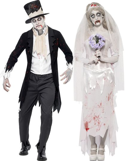 Couple zombie mariage deguisement adulte en couple le - Deguisement halloween adulte ...
