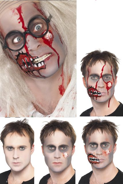 set maquillage zombie maquillage halloween le. Black Bedroom Furniture Sets. Home Design Ideas