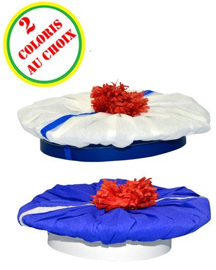 b ret marin cr pon blanc pompon rouge le. Black Bedroom Furniture Sets. Home Design Ideas