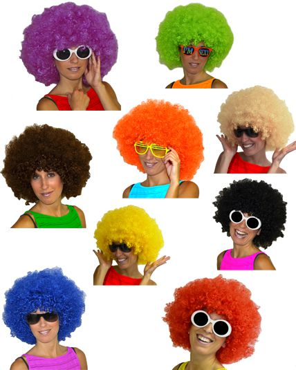 Perruque Afro Couleur