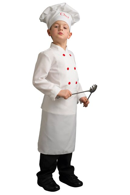 Une tenue de chef cuisinier pour enfant cuistot le for Tenue de cuisine
