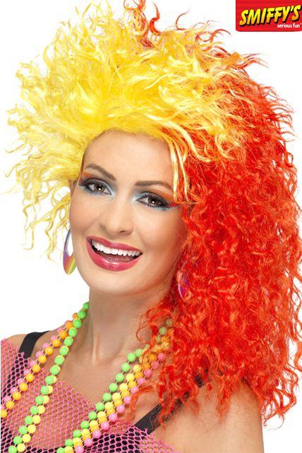 Grande perruque frisée Auburn Boogie pour femmes années 80