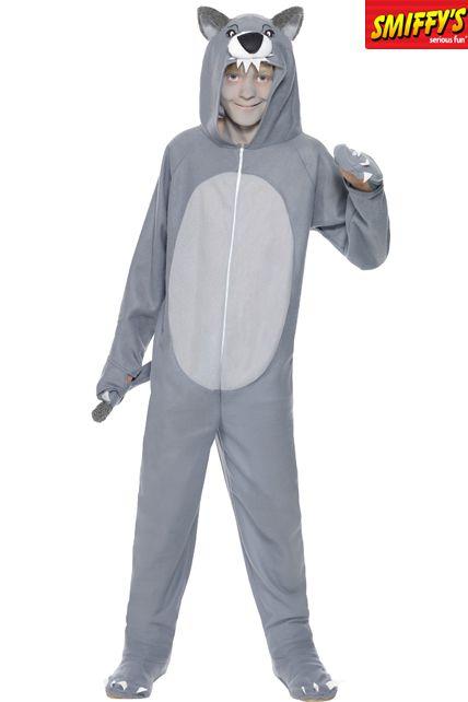 D guisement de loup gris d guisement halloween enfant gar on le for Comfabriquer deguisement halloween enfant