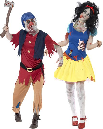 Deguisement couple blanche neige zombie d guisement halloween couple adulte le - Deguisement halloween couple ...