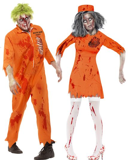 Deguisement couple prisonnier zombie d guisement couple halloween le - Deguisement halloween couple ...