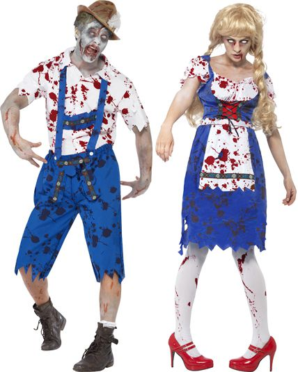 Deguisement couple zombie bavarois d guisement en couple pour halloween le - Deguisement halloween couple ...