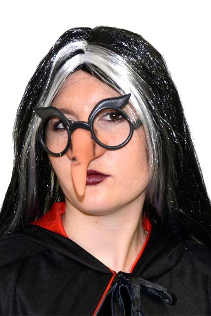 Nez de sorci re avec lunettes maquillage halloween le - Maquillage avec lunette ...