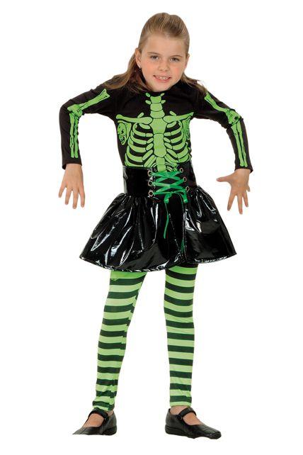 D guisement squelette fille d guisement enfant halloween enfants le for Comfabriquer deguisement halloween enfant
