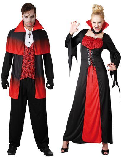couple vampire halloween d guisement en couple halloween. Black Bedroom Furniture Sets. Home Design Ideas