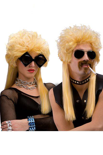 perruque rocker blonde mixte ann e 80 perruque femmes le. Black Bedroom Furniture Sets. Home Design Ideas