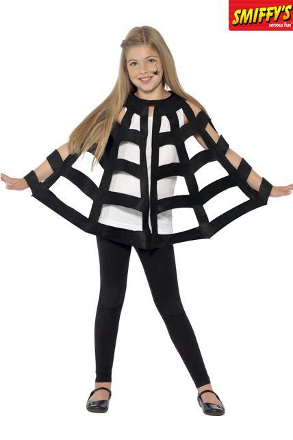 Cape enfant d 39 araign e noir d guisement halloween - Deguisement halloween simple ...
