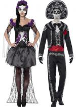 Deguisement Couple Day Of The Dead