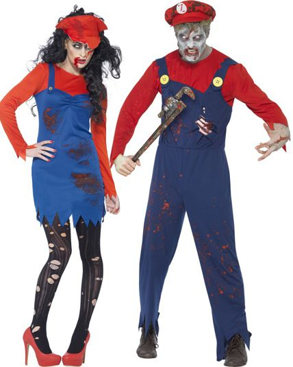 Couple plombier zombie d guisement en couple le - Deguisement halloween couple ...