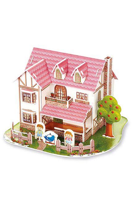 maison en 3d oiseau bleu kermesse jeux cr atif le. Black Bedroom Furniture Sets. Home Design Ideas
