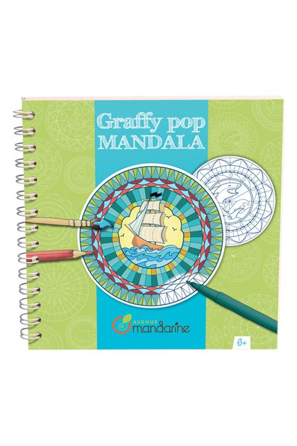 Carnet mandala gar on graffy pop kermesse jeux cr atif le - Mandala garcon ...