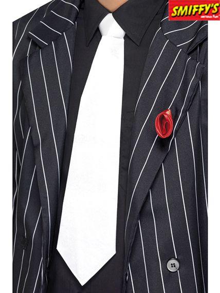 styles classiques pour toute la famille couleurs et frappant Une Cravate Gangster Blanche