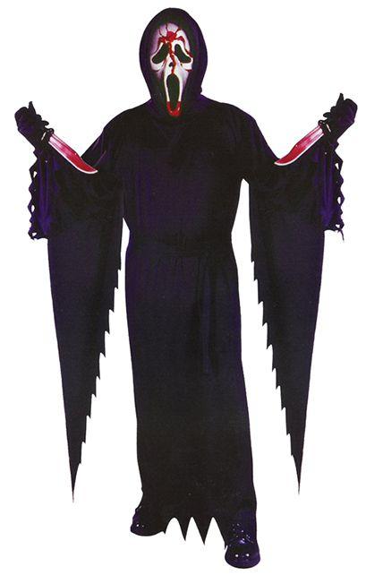 costume licence scream avec masque ensanglante d guisement adulte sp cial halloween le. Black Bedroom Furniture Sets. Home Design Ideas