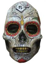 Deguisement Masque Latex Adulte Day Of The Dead Zombie