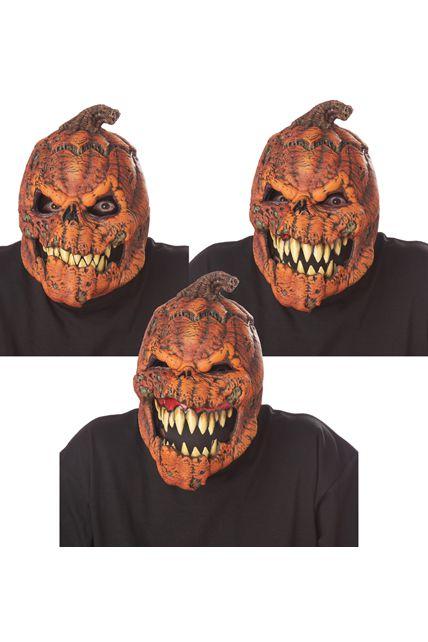 Masque articul citrouille effrayante en latex masque - Masque qui fait peur a imprimer ...